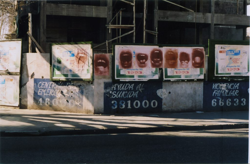 "Graciela SACCO, from the ""Bocanada"" (A breath of fresh air) series, 1992-1993, posters in the streets of Rosario, Argentina © Graciela Sacco."