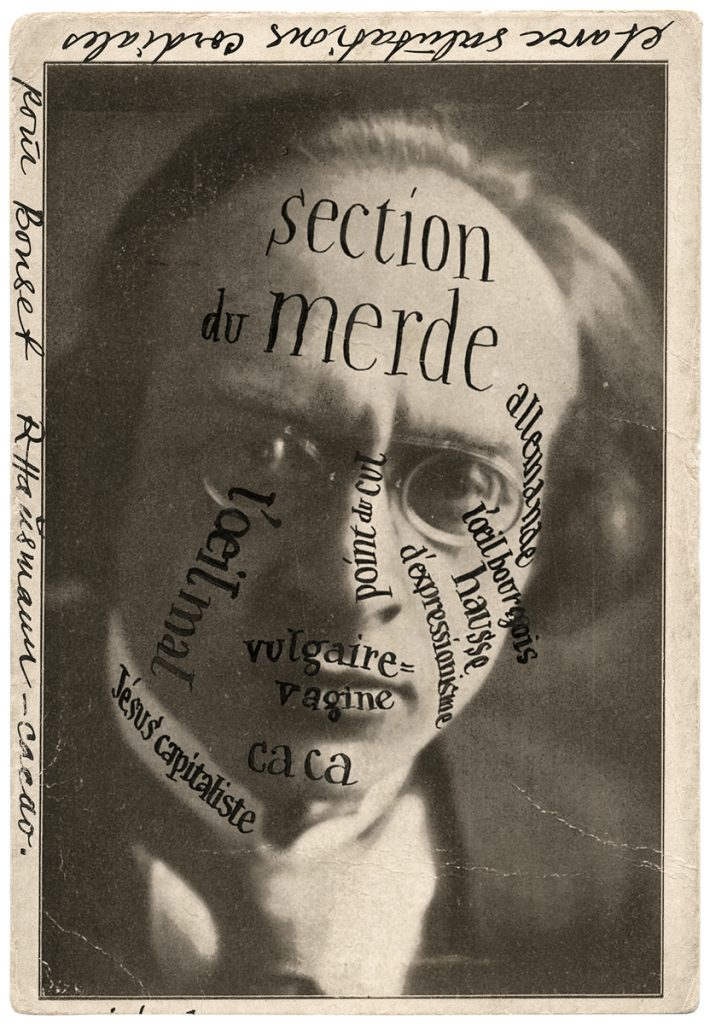 Raoul HAUSMAN, Portrait of Herwarth Walden at Bonset, 1921, postcard sent by Raoul Hausmann to Theo van Doesburg. Archives Theo and Nelly van Doesburg. Photo : collection RKD - Netherlands Institute for Art History / © ADAGP, Paris, 2016.