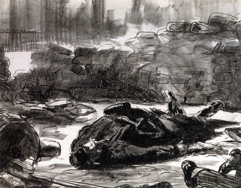Édouard MANET, Guerre civile (Civil war), 1871, two-tone lithograph on thick paper. Musée Carnavalet — Histoire de Paris. © Musée Carnavalet / Roger-Viollet.