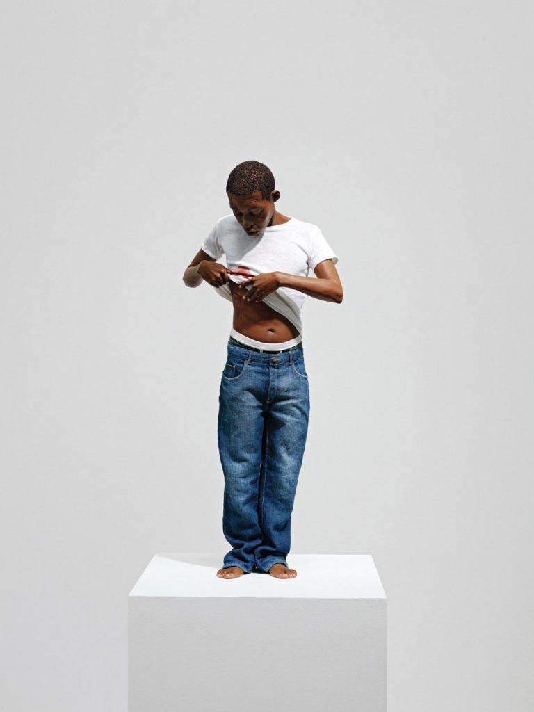 Ron Mueck 'Youth', 2009. Mixed media, 65 x 28 x 16 cm. Ed. 4/4 + 1 AP. Courtesy König Galerie.