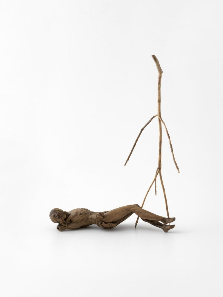 Kris Martin 'Resurrection' 2015. Found sculpture, wood piece, 36 x 7 x 24.5 cm. Unique. Courtesy König Galerie.