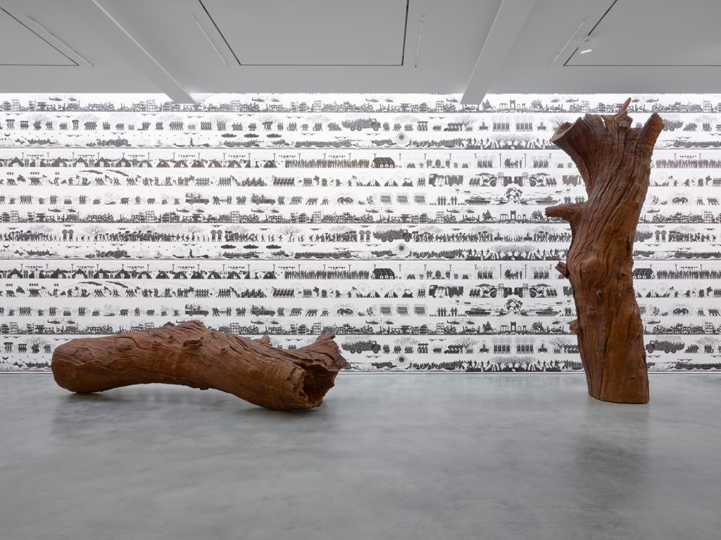 Installation photography of 'Ai Weiwei 2016: Roots and Branches' at Lisson Gallery Photography by Jack Hems.  © Ai Weiwei; Courtesy Lisson Gallery.