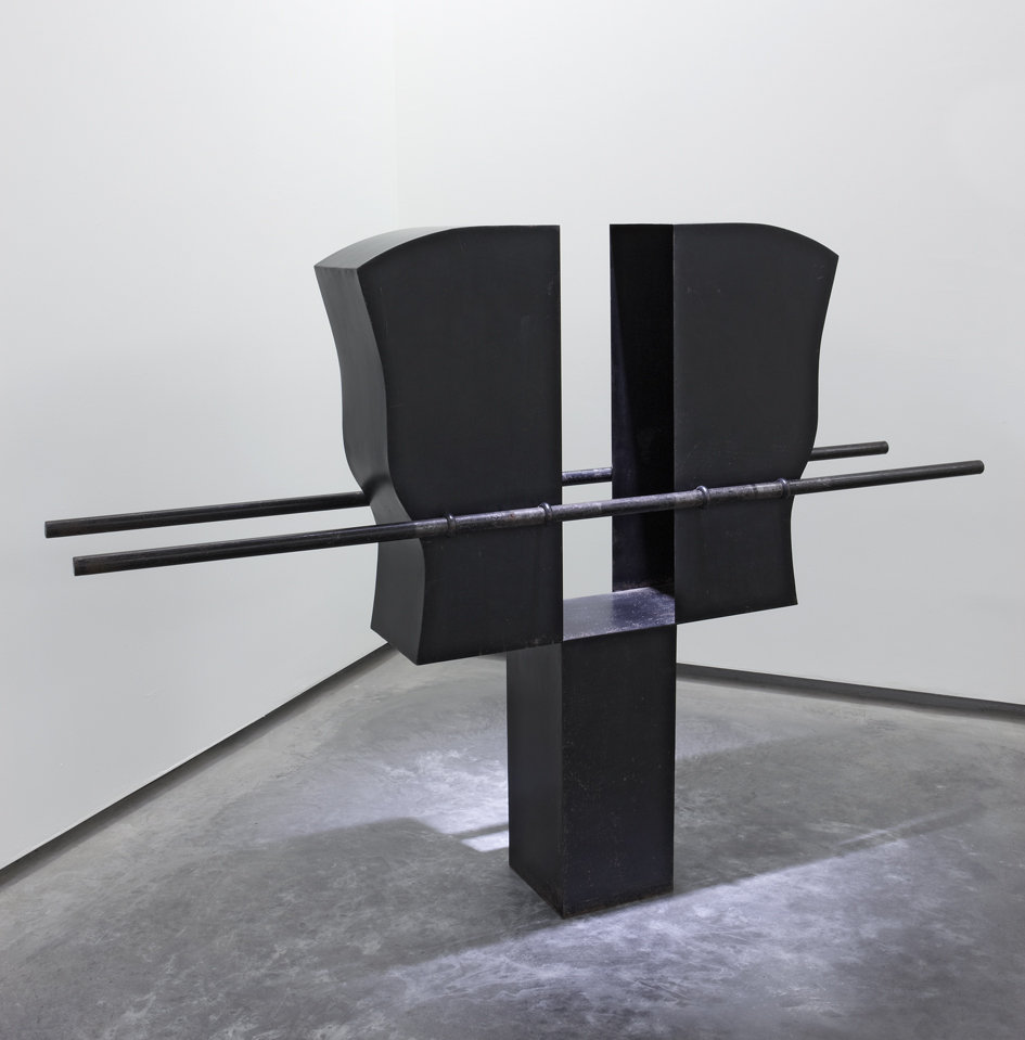 Pepe Espaliú 'Carrying VI', 1992. Patinated iron sheet, 143.5 x 200 x 36 cm. Courtesy König Galerie.