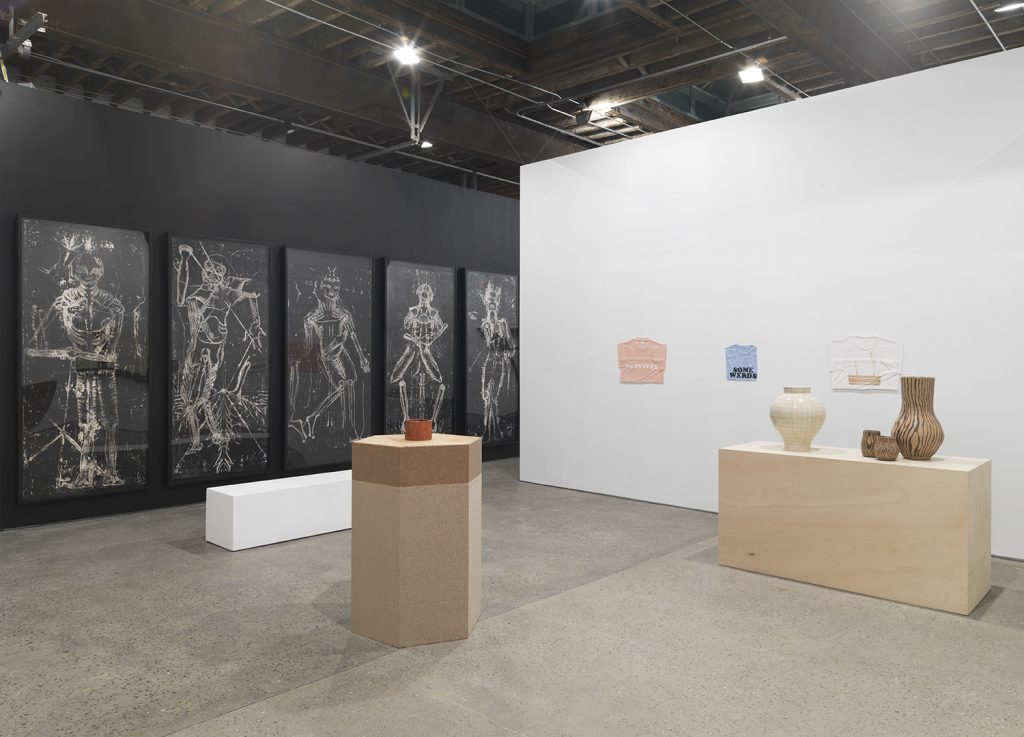 Installation view 'Implosion 20'. Courtesy Anton Kern Gallery, photography Object Studies.
