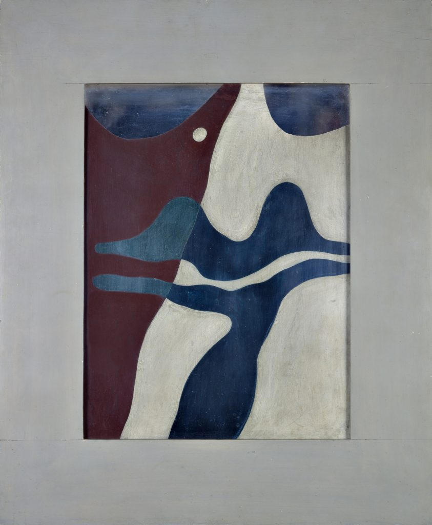 Hans Arp, Tête; Lèvres écossaises (Head; Scottish Lips), 1927 Cardboard and paint, 73.5 x 61 cm / 28 7/8 x 24 in © Stiftung Arp e.V. Berlin/Rolandswerth / 2016 Artists Rights Society (ARS), New York. Courtesy Hauser & Wirth