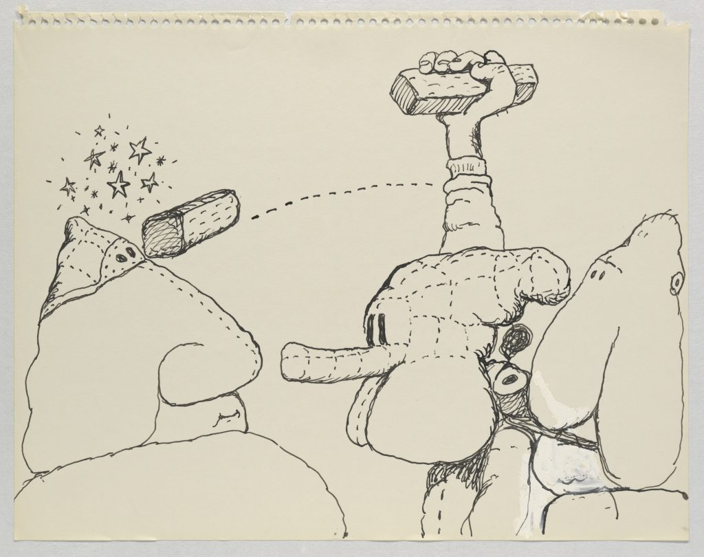 Philip Guston, Untitled, 1971 Ink on paper, 27.6 x 35.2 cm / 10 7/8 x 13 7/8 in. © The Estate of Philip Guston. Courtesy Hauser & Wirth