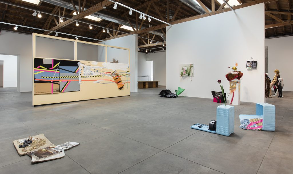 Installation view, 'Isa Genzken. I Love Michael Asher' Hauser Wirth & Schimmel, 2016, Photo: Brian Forrest. Courtesy the artist, Hauser & Wirth and Galerie Buchholz Cologne / Berlin / New York © Artists Rights Society (ARS) New York / VG Bild-Kunst, Bonn