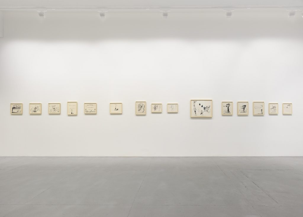 Installation view, 'Philip Guston: Laughter in the Dark, Drawings from 1971 & 1975', Hauser & Wirth New York, 22nd Street Photo: Genevieve Hanson © The Estate of Philip Guston. Courtesy Hauser & Wirth