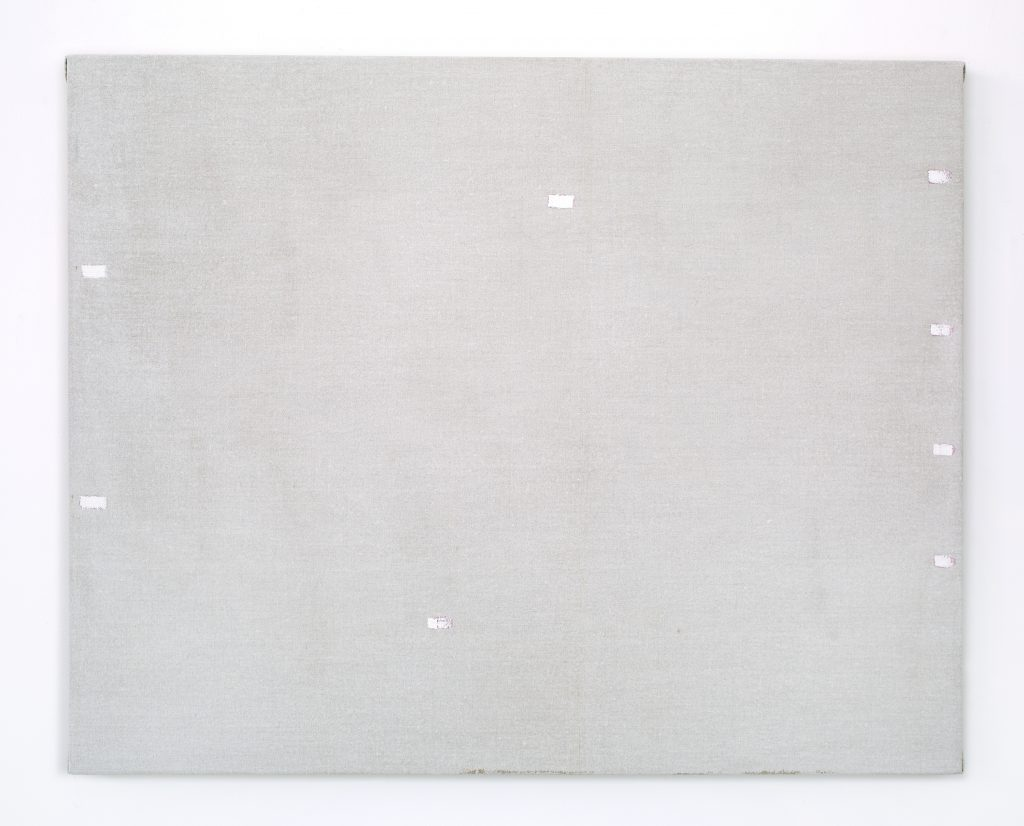 John Zurier, 'Untitled (Eclipse)', 2016 Distemper and oil on linen 60 × 75 cm (23 2/3 × 29 1/2 in). Courtesy of the artist and Office Baroque, Brussels.