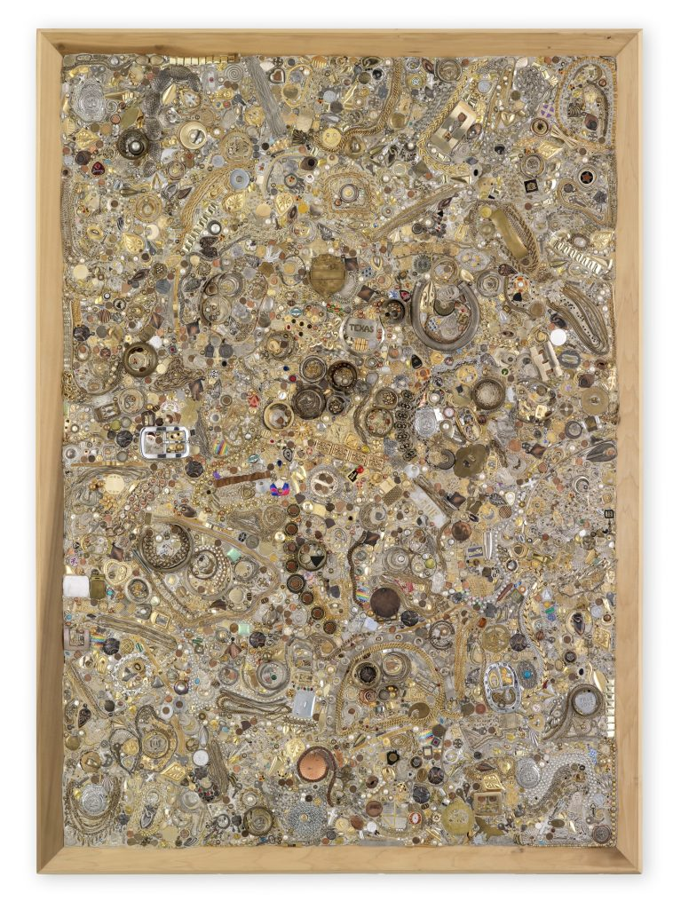 Mike Kelley 'Memory Ware Flat #24', 2001 Mixed media on wood panel 215.5 x 154 x 11.8 cm / 84 7/8 x 60 5/8 x 4 5/8 in Art © Mike Kelley Foundation for the Arts. All Rights Reserved / Licensed by VAGA, New York, NY Private Collection Courtesy the Foundation and Hauser & Wirth Photo: Stefan Altenburger Photography Zürich