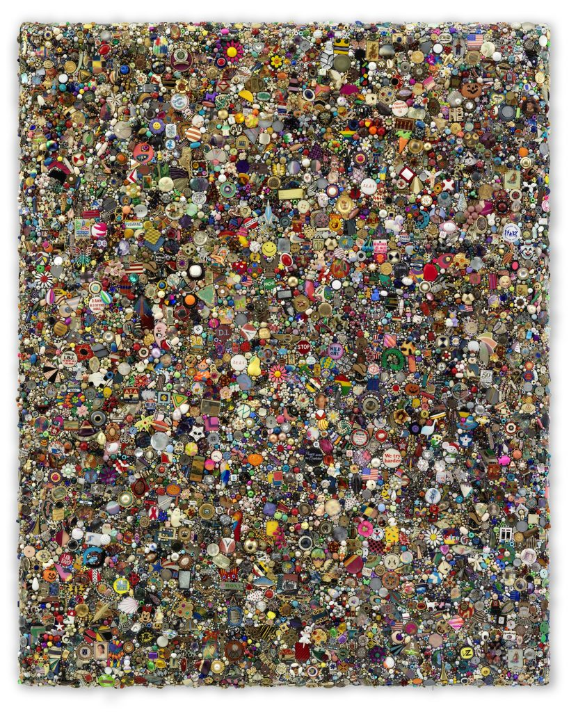 Mike Kelley 'Memory Ware Flat #58', 2009 Mixed media on wood panel 128.5 x 112.2 x 10.5 cm / 50 5/8 x 44 1/8 x 4 1/8 in Art © Mike Kelley Foundation for the Arts. All Rights Reserved / Licensed by VAGA, New York, NY Private Collection Courtesy the Foundation and Hauser & Wirth Photo: Stefan Altenburger Photography Zürich