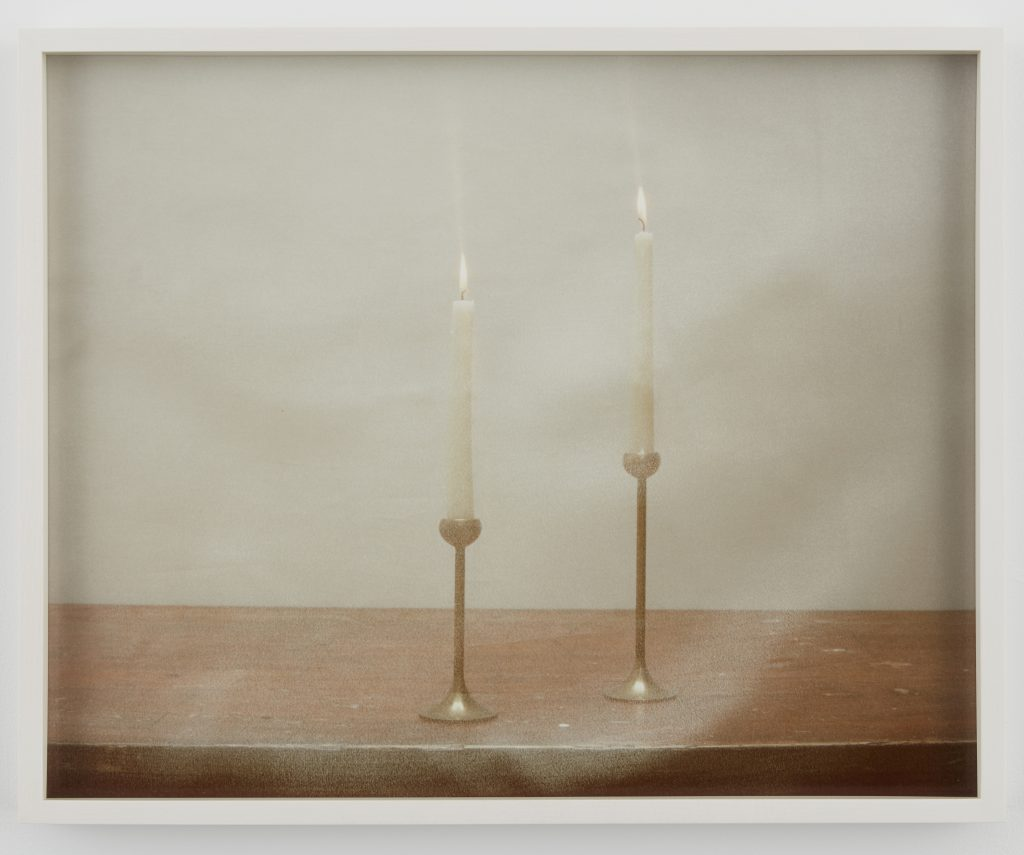 Melanie Schiff 'Two Candles', 2016 Pigmented inkjet print 16 3/4 x 20 3/4 x 1 1/2 inches (framed). Edition 1 of 3 with 2 AP.  Courtesy of the artist and Kate Werble Gallery, New York, NY.
