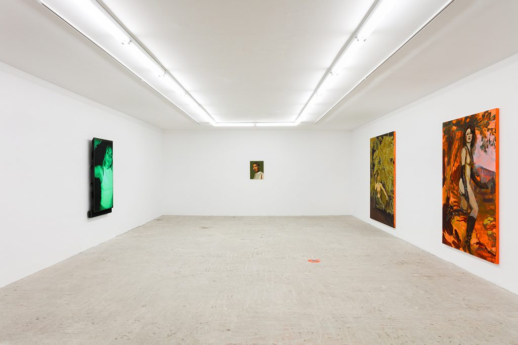 Casey Jane Ellison & Claire Tabouret 'Voyeur vs. Viewer' Installation view at Lyles & King. Courtesy Lyles & King.