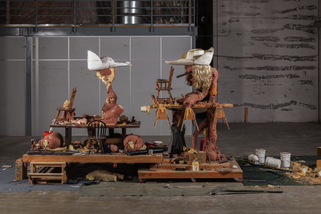 Paul McCarthy 'Chop Chop, Chopper, Amputation', 2013 Clay, wood, mixed materials 360 x 1080 x 350 cm / 141 3/4 x 425 1/4 x 137 3/4 in Photo: Fredrik Nilsen. © The artist. Courtesy Hauser & Wirth