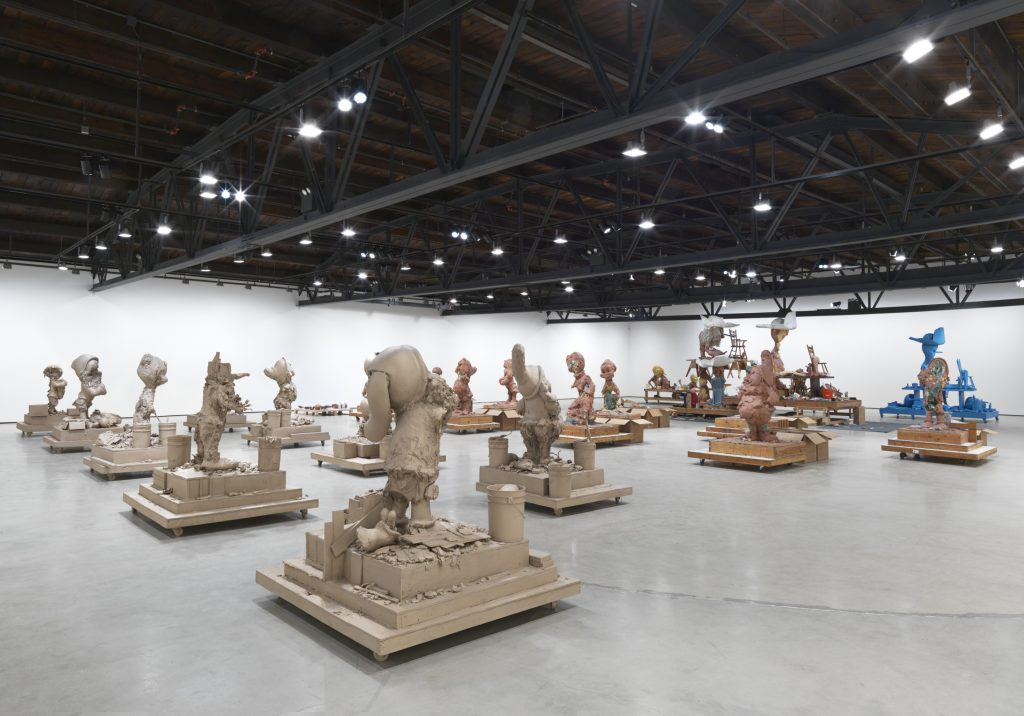 Installation view, 'Paul McCarthy. Raw Spinoffs Continuations' Hauser & Wirth New York, 18th Street. Photo: Genevieve Hanson © The artist. Courtesy Hauser & Wirth