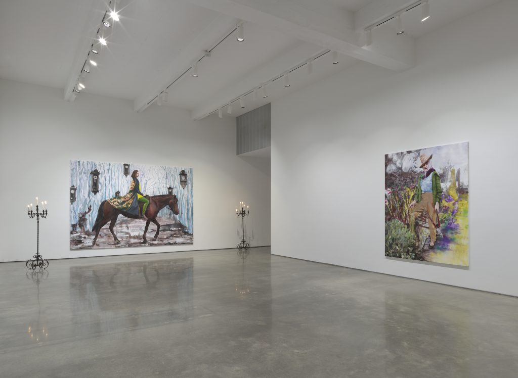 Paulina Olowska 'Wisteria, Mysteria, Hysteria' Installation view, Metro Pictures, November 4 - December 22, 2016. Courtesy of Metro Pictures.