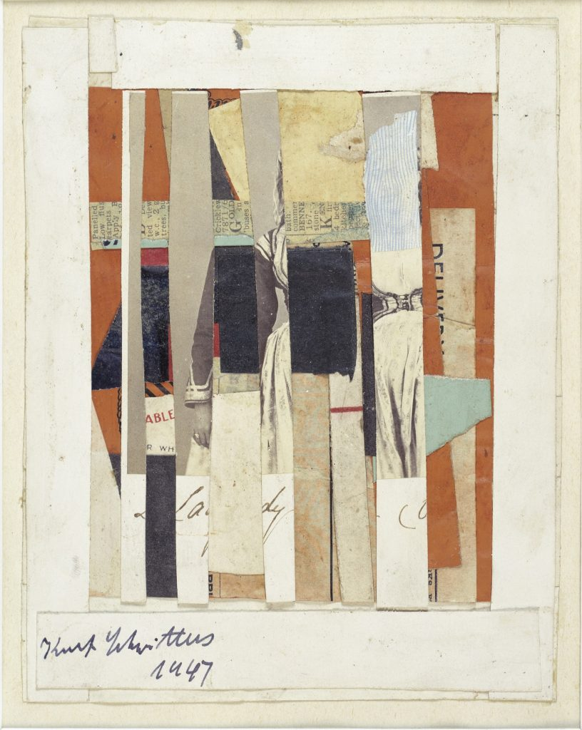 Kurt Schwitters, Untitled (ABLE), 1947 Collage, paper, cardboard, and photography on paper, fixed under passepartout, 16.8 x 13.3 cm / 6 5/8 x 5 1/4 in © 2016 Artists Rights Society (ARS), New York Courtesy Kurt and Ernst Schwitters Foundation and Hauser & Wirth