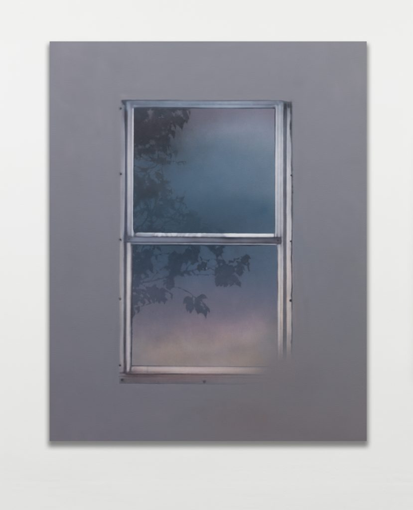 Sayre Gomez 'Window Painting in Grey', 2016 Acrylic on canvas 127 x 101.6 x 1.5 cm 50 x 40 x 5/8 in. Courtesy of the artist and rodolphe janssen, Brussels.