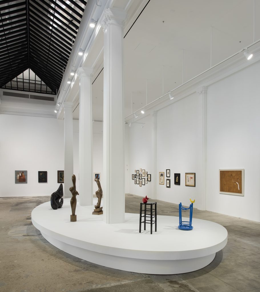 Installation view, 'Schwitters Miró Arp' Hauser Wirth & Schimmel, 2016 Photo: Brian Forrest Courtesy the artists and Hauser & Wirth © Artists Rights Society (ARS) New York / VG Bild-Kunst, Bonn