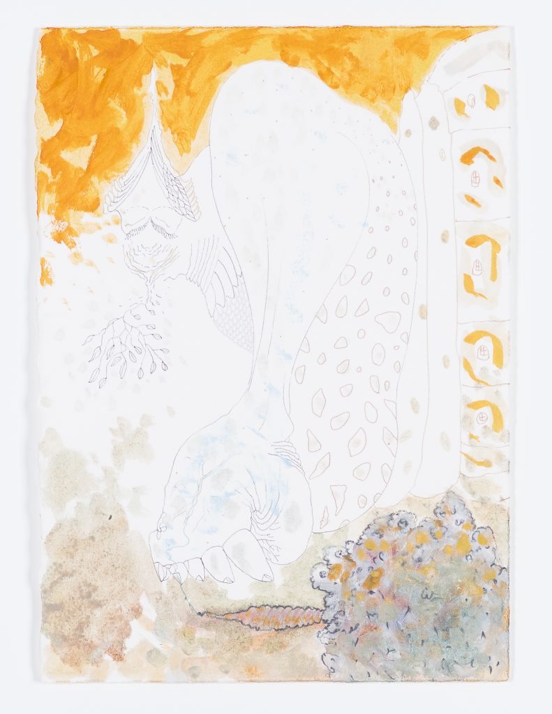 Wael Shawky 'Al Araba Al Madfuna, Drawings', 2015 Graphite, pigments, ink, and oil on paper 21 x 29.7 cm, 8 1/4 x 11 3/4 in © Wael Shawky; Courtesy Lisson Gallery