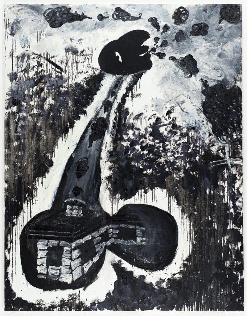 Bendix Harms 'Der letzte Rauch', 2012 Oil on canvas, 71 x 55 1/8 inches (180 x 140 cm). Courtesy Anton Kern Gallery.