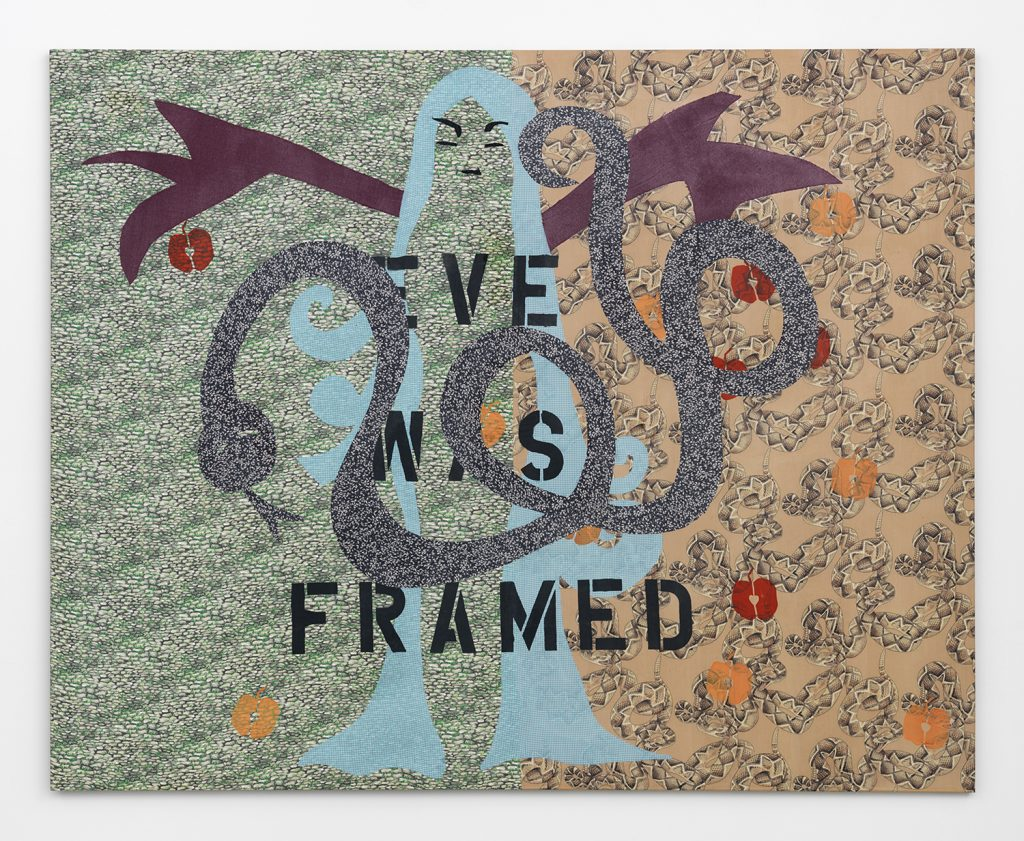 Lara Schnitger 'Eve Was Framed', 2005 Fabric and wood, 64 x 80 inches, (162.56 x 203.2 cm). Courtesy Anton Kern Gallery.