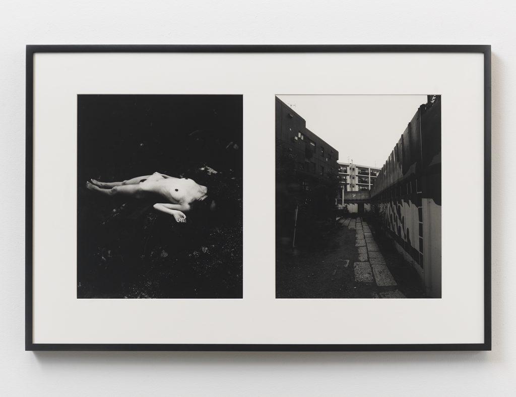 Nobuyoshi Araki, 'Tokyo Nude (28)', 1989 Silver gelatin print, 15 1/2 x 12 3/4 in (39.37 x 32.38 cm) (each image paper); 23 1/2 x 36 in (59.69 x 91.44 cm) (diptych framed). Courtesy Anton Kern Gallery.