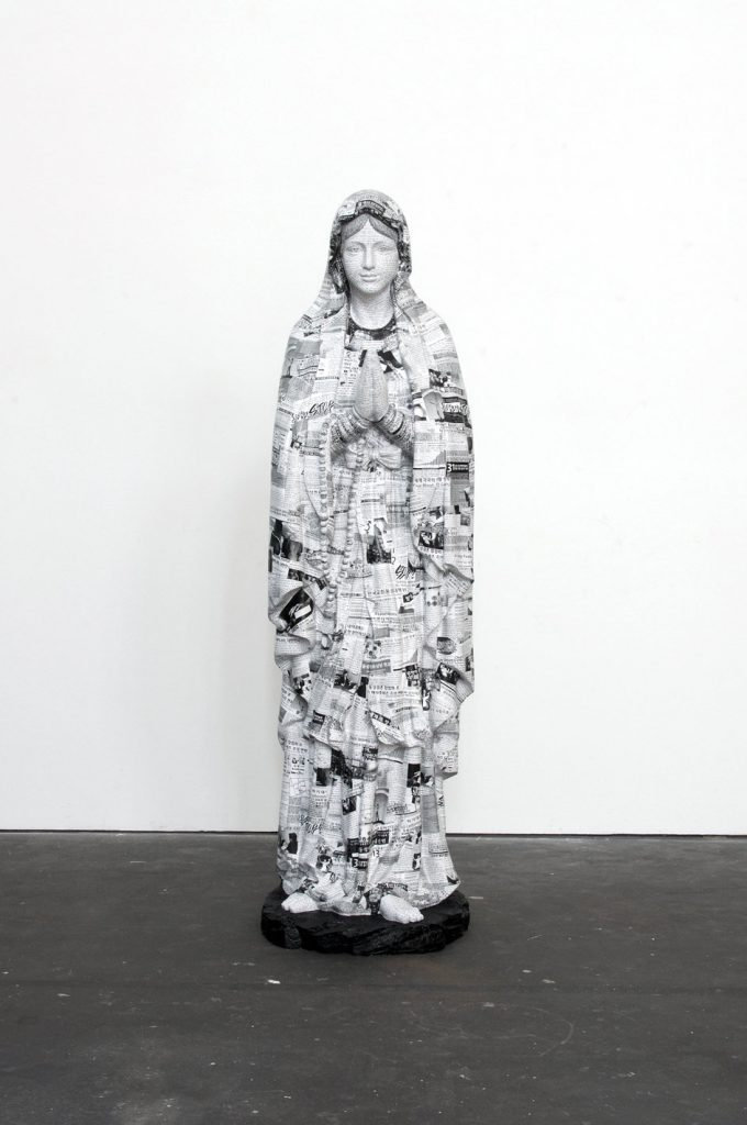 Young-JunTak 'Salvation', 2016. Resin, fiberglass, paper, glue, MDF, lacquer, 196.6 x 65 x 65 cm. Unique. Courtesy König Galerie.