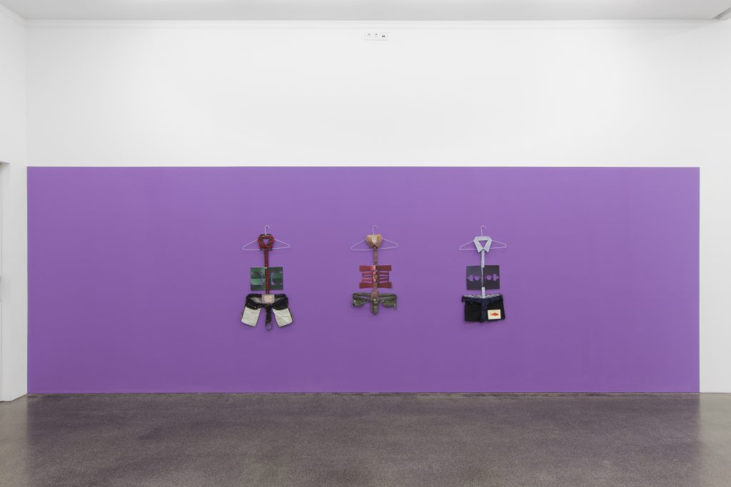Matt Keegan 'Purple' Installation view at Meyer Riegger, Berlin. Courtesy Meyer Riegger.