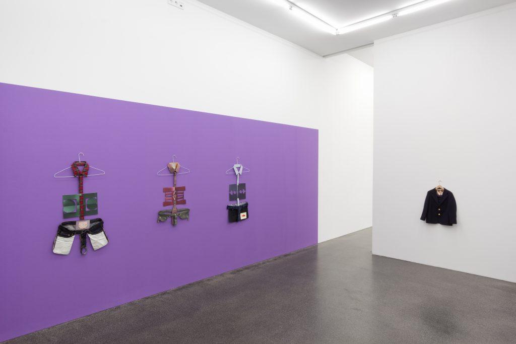 Matt Keegan 'Purple' Installation view at Meyer Riegger, Berlin. Courtesy Meyer Riegger.