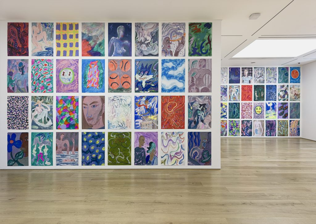 Charlie Roberts, Juicy, Exhibition View. Courtesy of the artist and Marlborough Contemporary. Photo Francis Ware.